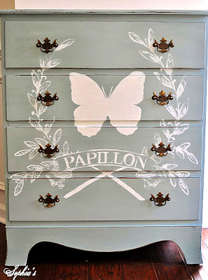 French Butterfly Chalk Paint Dresser Annie Sloan