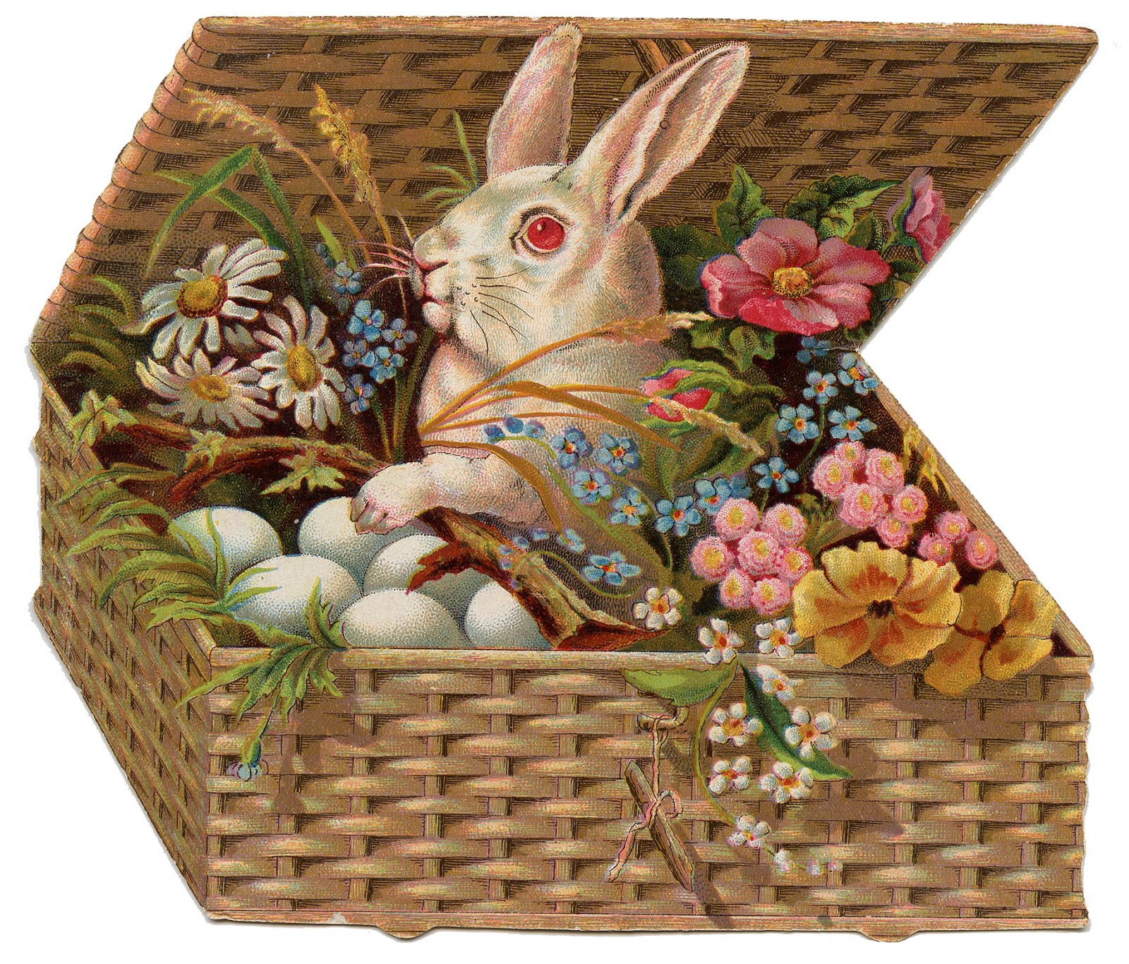 *The Graphics Fairy LLC*: Vintage Easter Clip Art of Bunny ...