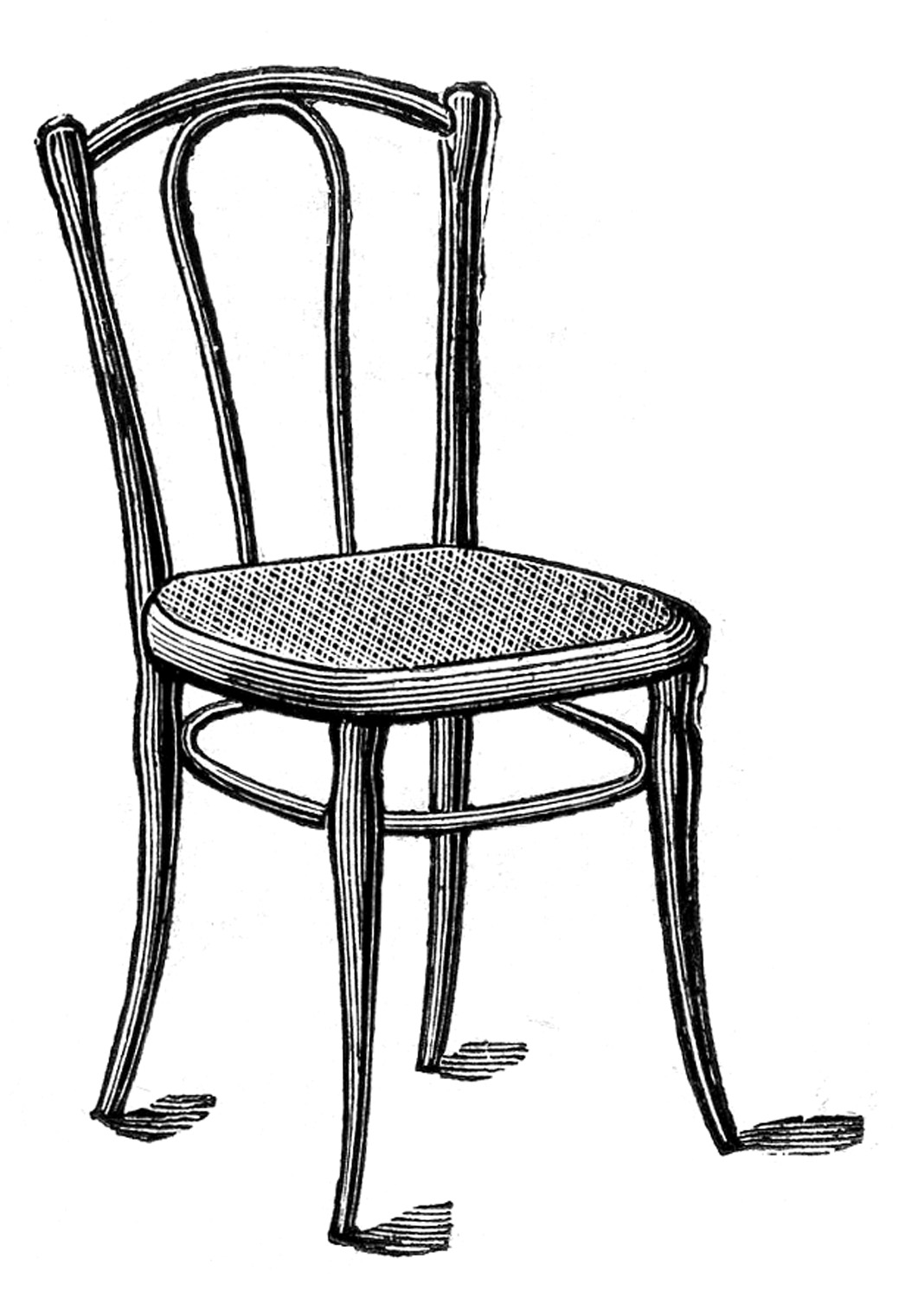 Antique Images - Caned Bentwood Chairs - The Graphics Fairy
