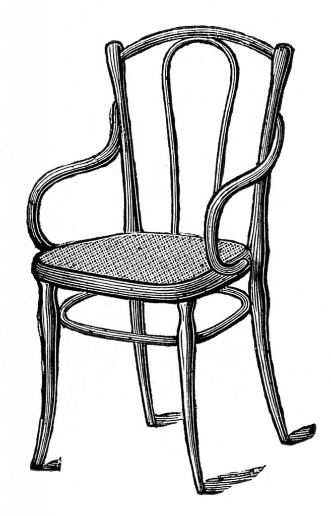 Caned Bentwood Arm Chair