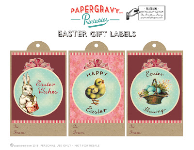 Printable vintage easter gift tags digital paper the graphics printable vintage easter gift tags negle Images