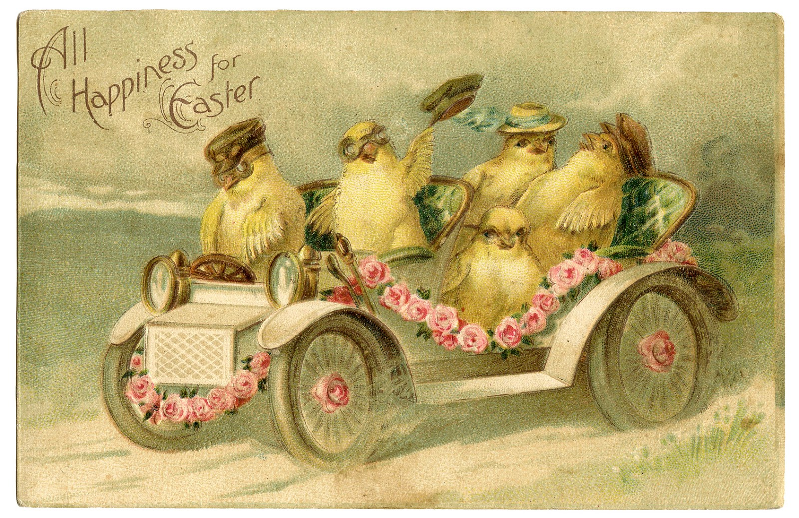 bunnies wallpaper vintage post cards - photo #42