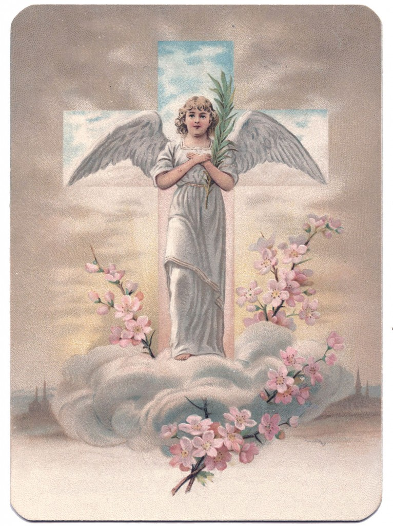 Easter Angel with Cross Picture