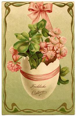 Clip Art of Vintage German Easter Egg