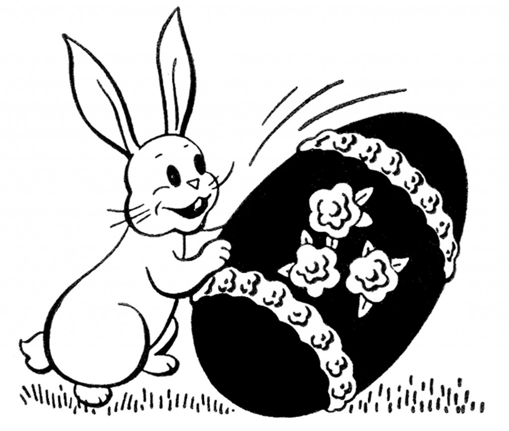 Retro Easter Bunny Clip Art