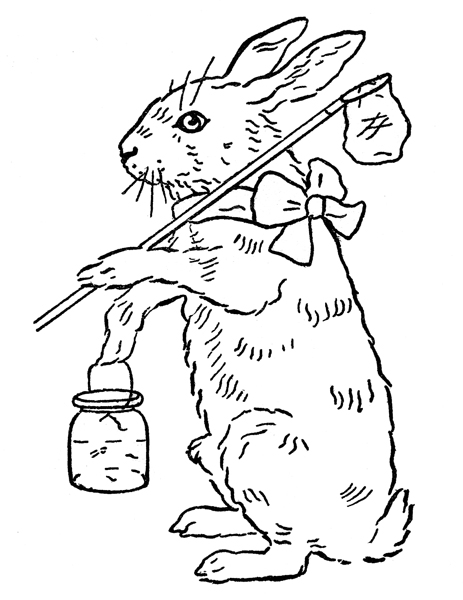 old fashioned halloween coloring pages | Printable Coloring Page - Easter Bunny - The Graphics Fairy