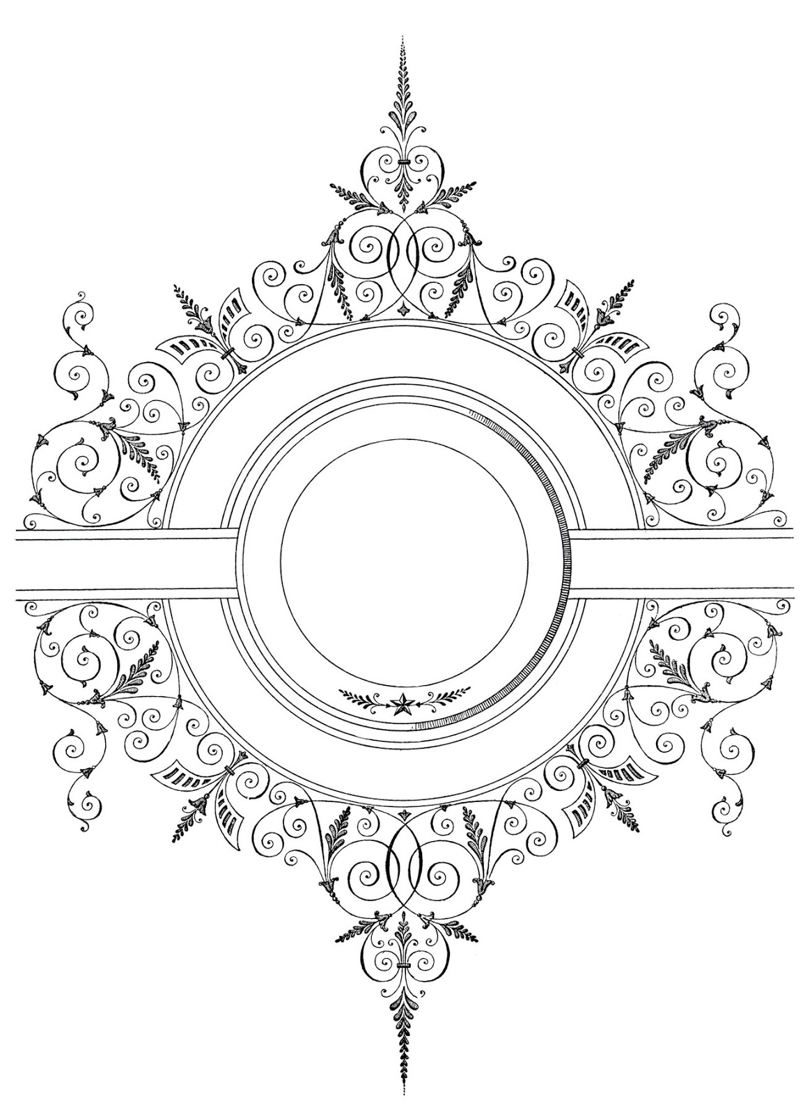 free vector download fancy antique frame the graphics fairy