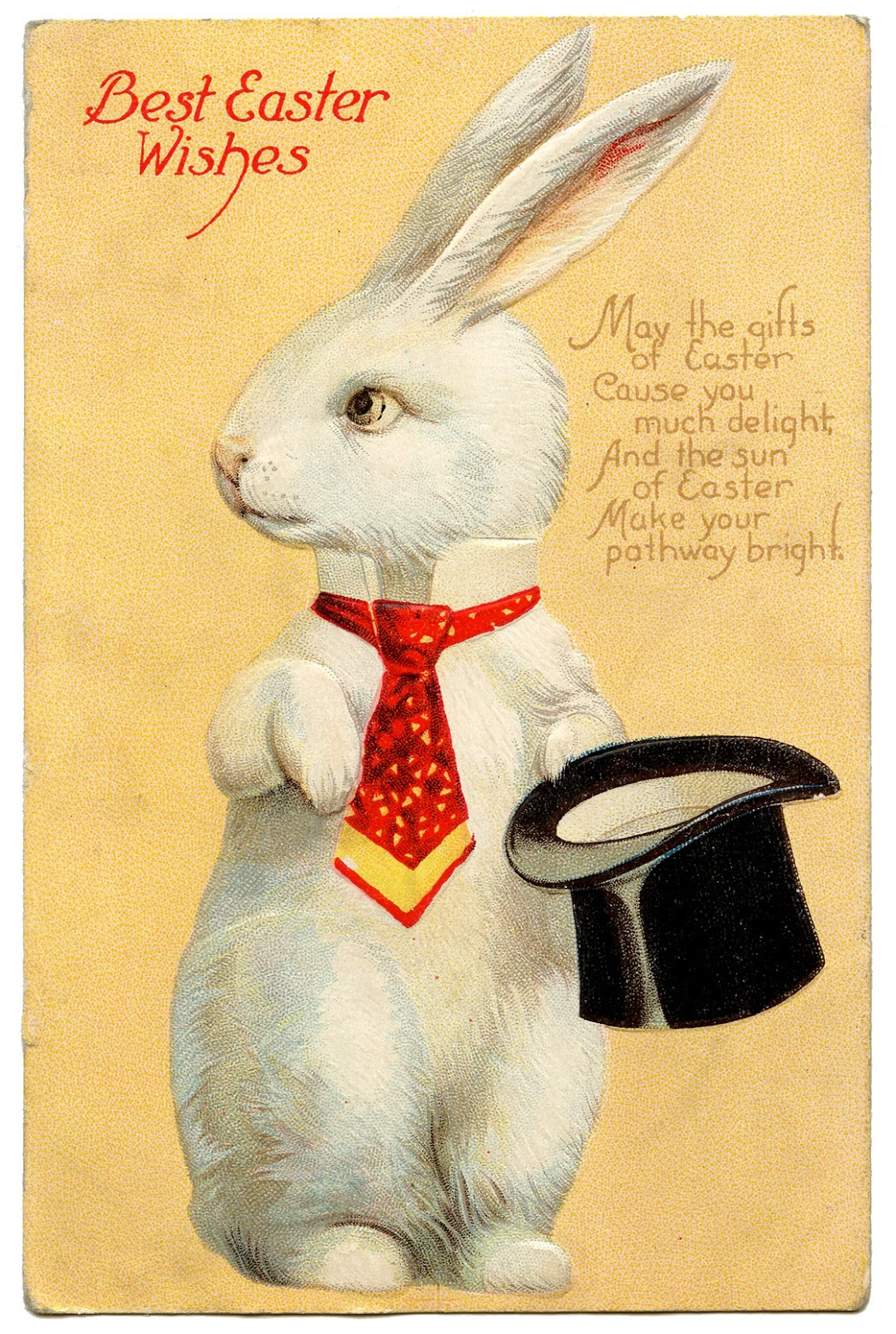 Vintage easter image quirky white rabbit with hat the graphics fairy vintage easter image quirky white rabbit top hat negle Choice Image