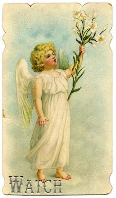 Vintage Stock Easter Image Angel