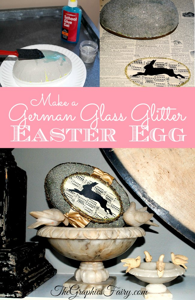 Make a German Glass Glitter Easter Egg - The Graphics Fairy