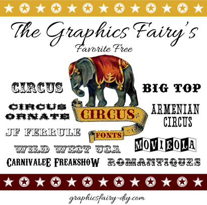 graphicsfairy circus fonts21 - Printable Western Wedding Invitations Free
