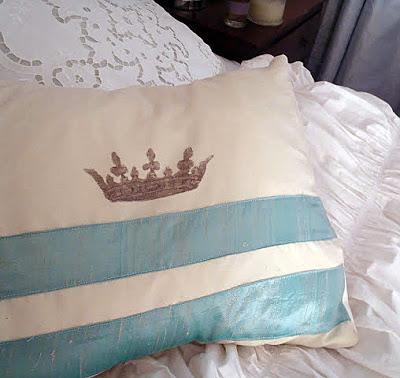 Velvet Crown Pillow