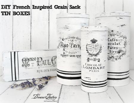 French Grain Tins DIY
