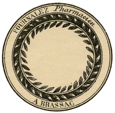 Vintage French Round Labels - Pharmacy Apothecary Labels