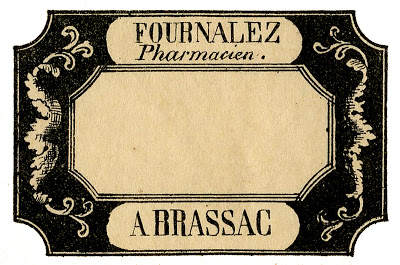 Old Fashion Parcel Label Drawing
