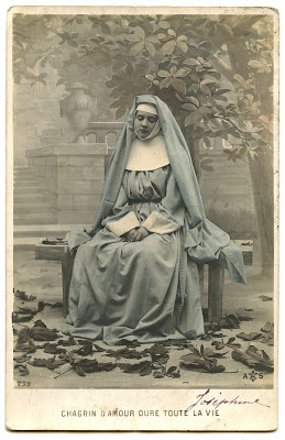 Old Photo Pretty French Nun