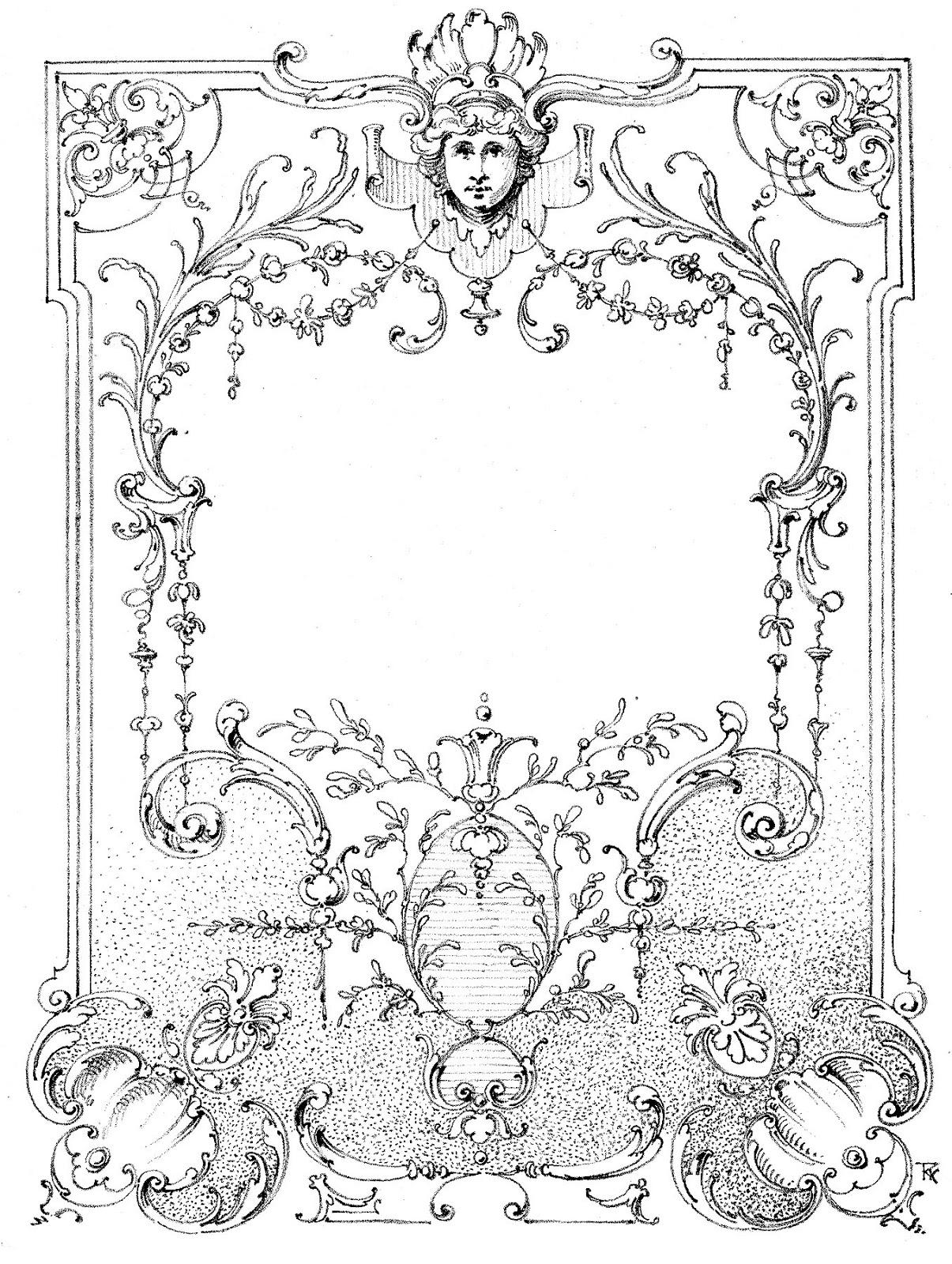 Vintage Illustrations - Gorgeous Ornate Label - Frame ...