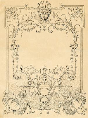 Vintage Illustration  European Label - Frame