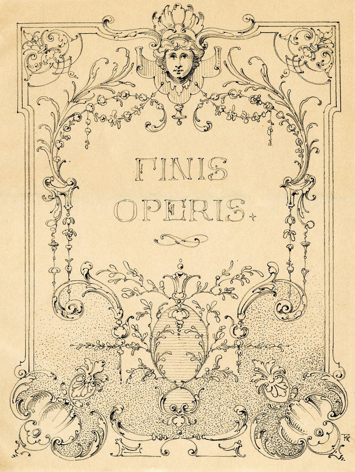 Vintage Illustrations - Gorgeous Ornate Label - Frame - The ...