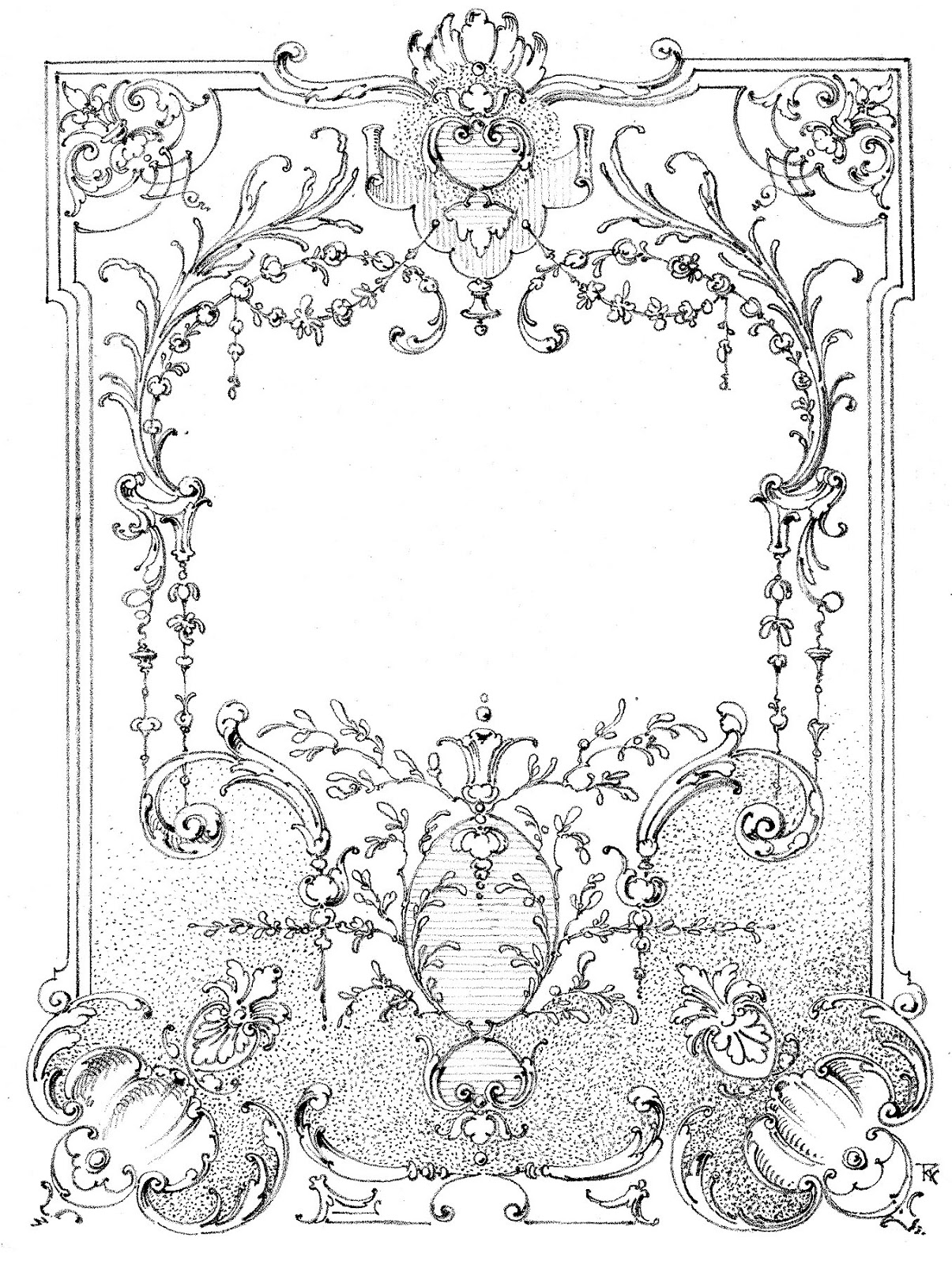 Free Vintage Frame Coloring Pages