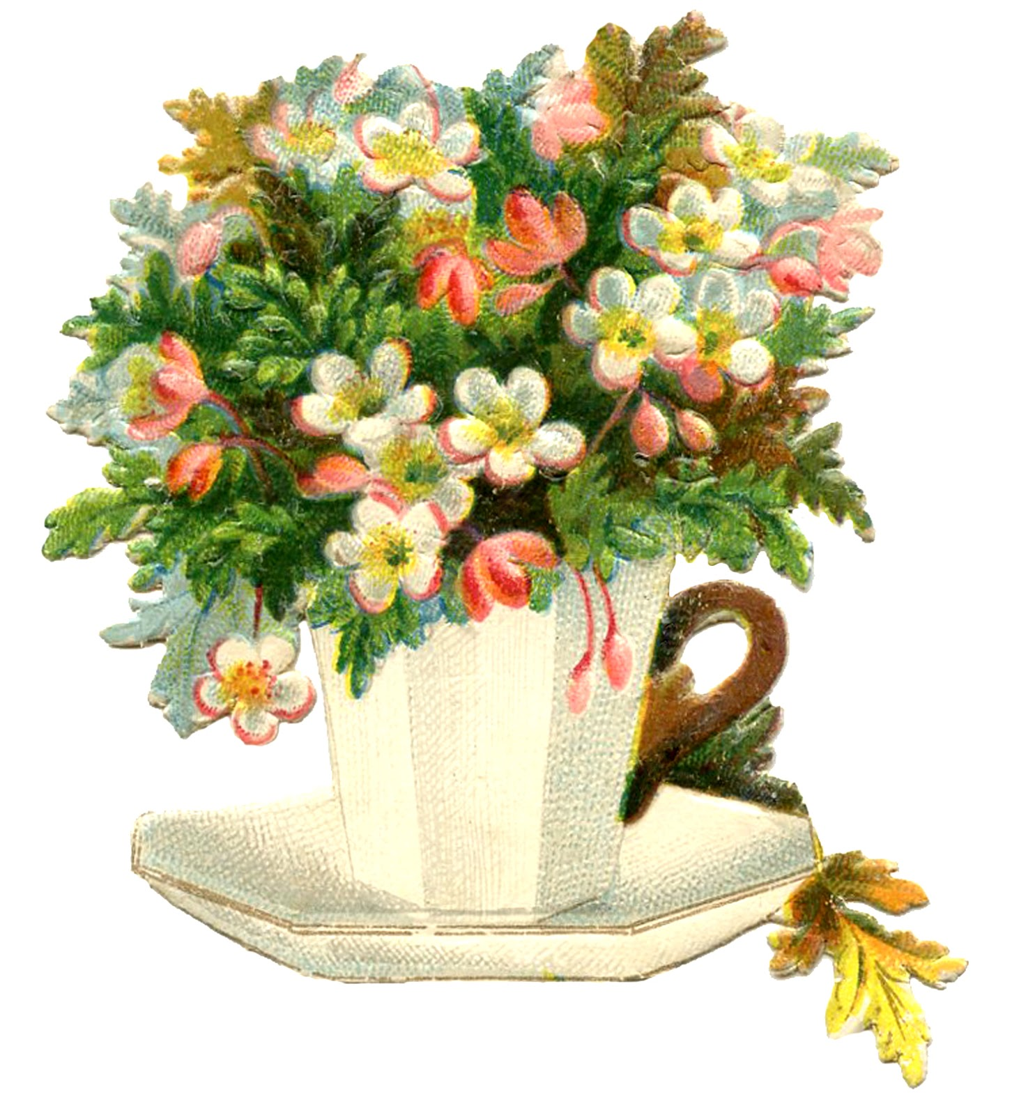 Vintage Teacup Image Flowers Mother S Day The