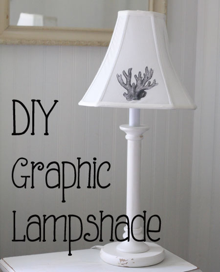 Diy graphic lampshade the graphics fairy you could use it with any image youd like from the graphics fairy but i thought this beach cottage inspired coral image was perfect for the summer aloadofball Gallery
