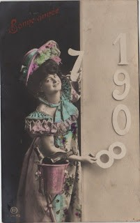 Happy New Year Postcard 1908