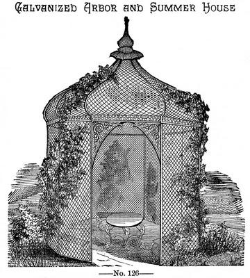 Vintage Garden Graphic – Beautiful Gazebo