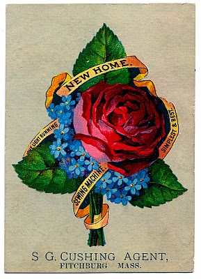 Vintage Graphic – Rose Bouquet – Sewing Ad