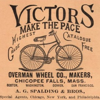 Vintage Clip Art – Old Fashioned Bicycle