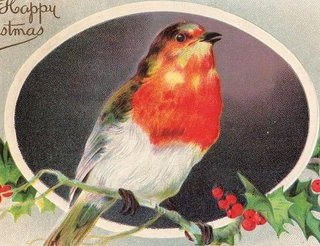 Free Christmas Clip Art – Vintage Bird