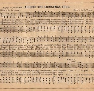Vintage Graphic – Christmas Sheet Music