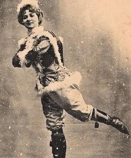 Vintage Clip Art – Ice Skating Lady
