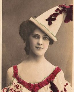 Fabulous Old Photo – Lady in Pierrot Costume