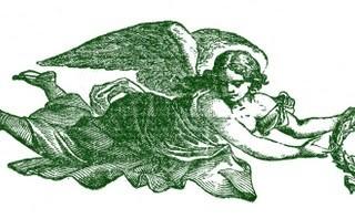 Free Vintage Clip Art – Angels & Sheet Music