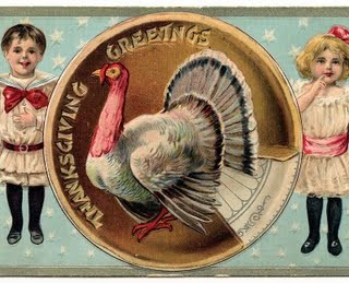 Free Vintage Clip Art – Cutest Thanksgiving Postcard