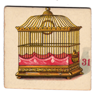 Free Victorian Graphic – Ornate Bird Cage