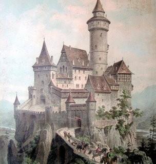 Free Vintage Clip Art – Castle