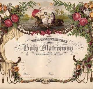 Amazing Victorian Blank Marriage Certificate!