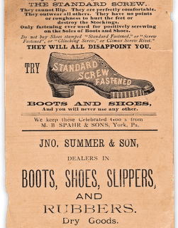Victorian Graphic – Shoe Trade Card