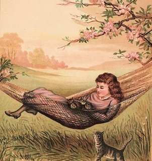 Victorian Graphic – Sweet Girl with Kittens