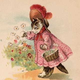 Victorian Graphic – Kitty in Pink Dress