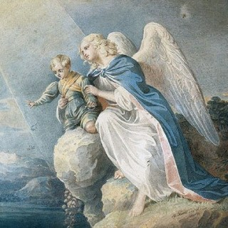 Free Graphic – Blue and White Angel
