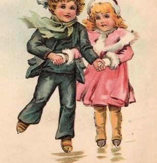 Victorian Graphic – Children Ice Skating
