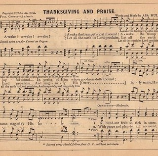 Antique Sheet Music – Thanksgiving