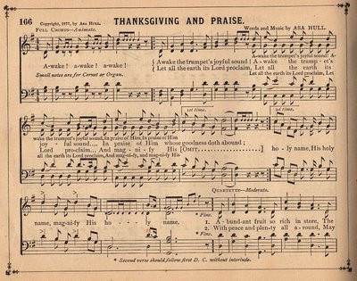 Antique Sheet Music - Thanksgiving - The Graphics Fairy
