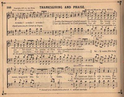 Antique Sheet Music – Thanksgiving