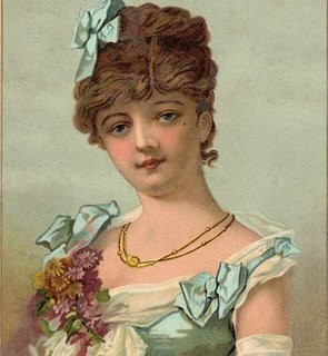 Lovely Victorian Graphic – Woman in Formal Gown