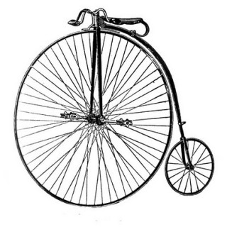 Free Clip Art – Old Fashioned Bicycle