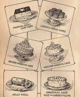 Vintage Clip Art – Fancy Cakes
